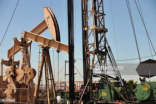 Oil rigs extract petroleum in Culver City California on May 16 as the price of crude oil rose to nearly USD 128 per barrel prompting oil companies to...