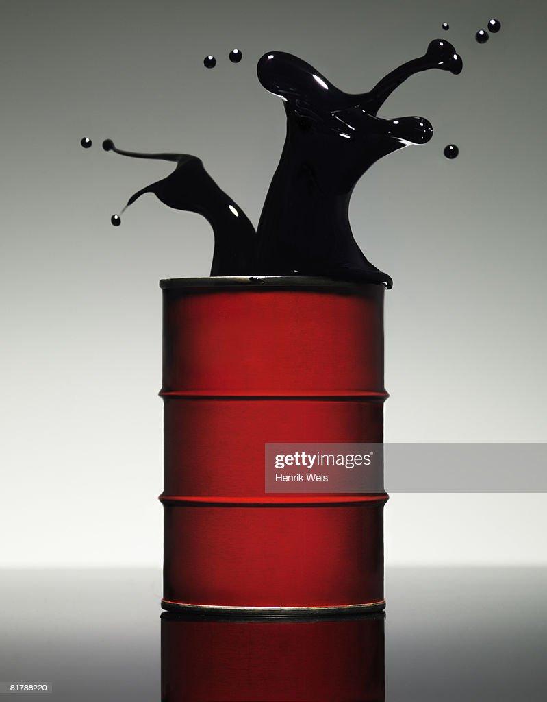Oil Splash : Stock Photo