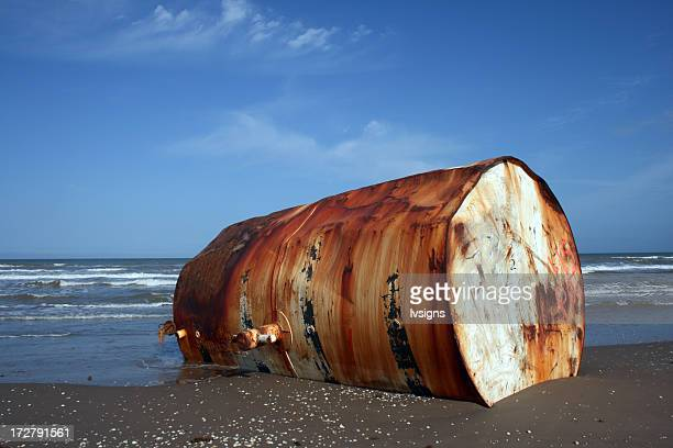 Oil Tank on Beach