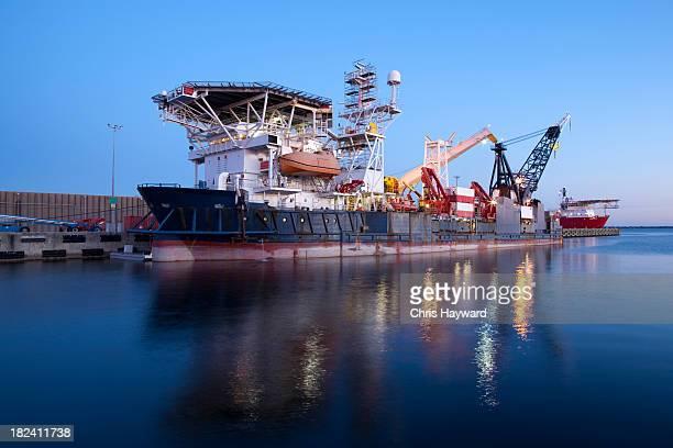 Oil Tanker at Harbor