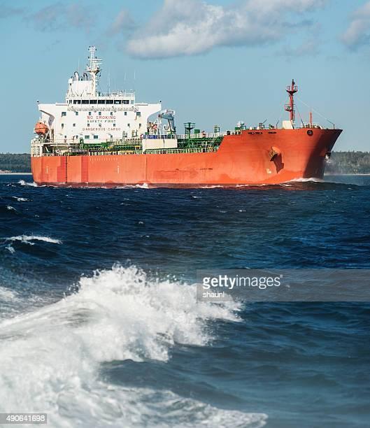Oil Tanker Departs Harbour