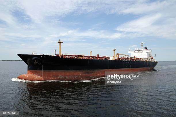 Oil Tanker leaving port