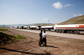 Oil trucks line up at the Bazian Refinery near the city of Sulaimaniyah A recent oil boom in the semiautonomous region of Iraqi Kurdistan has seen...