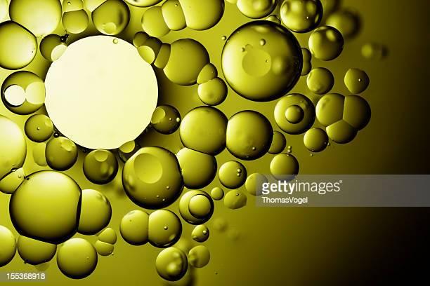 石油&ウォーター抽象的な背景の緑の詳細