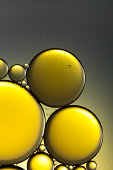 Oil & Water - Abstract Yellow Gold Macro Background