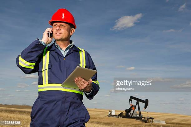 Oil Worker and Technology