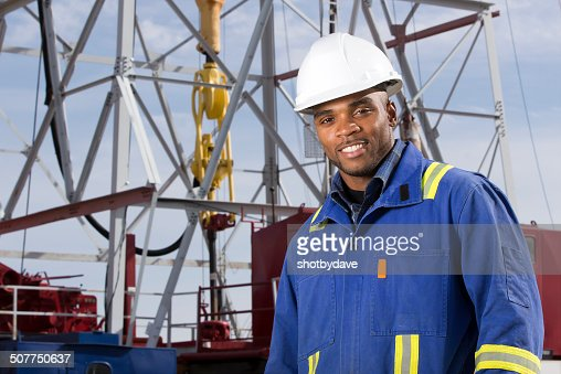 Oil Worker at a Rig