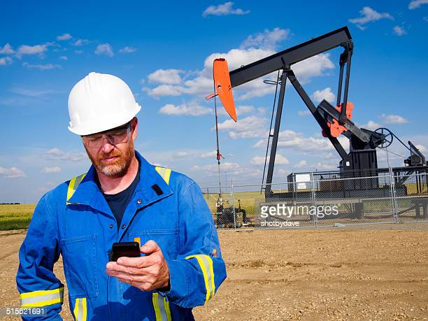 Oil Worker on the Phone