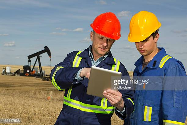 Oil Workers and Tablet PC