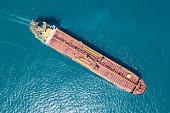 Oil/Chemical tanker at sea - Aerial image