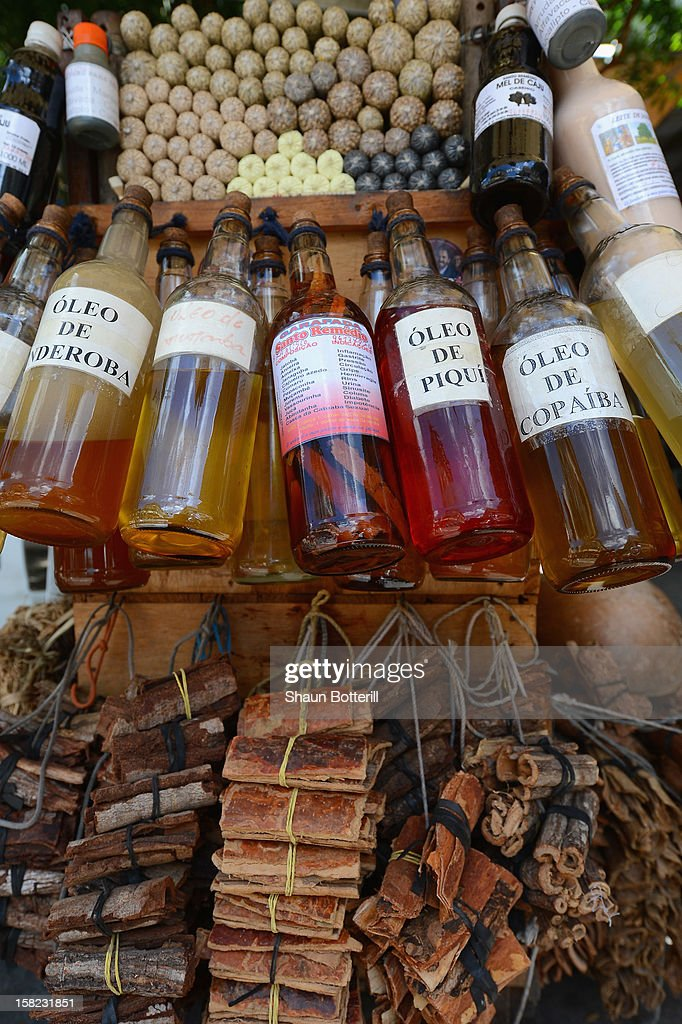Oils and spices for sale in the city on December 11, 2012 in Fortaleza, Brazil.