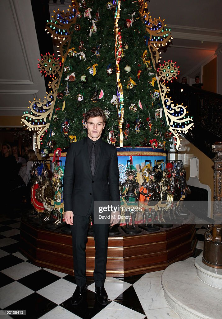 Oilver Cheshire attends Claridge's Christmas Tree By Dolce & Gabbana launch party at Claridge's Hotel on November 26, 2013 in London, England.