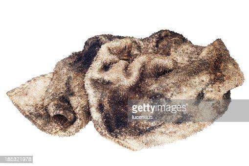 Oily rag isolated on white