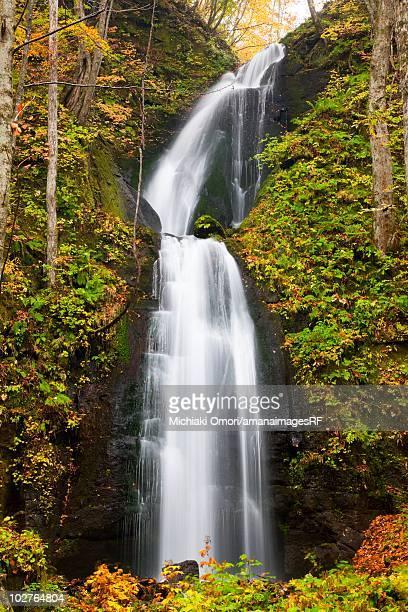 Oirase river during autumn. Towada, Aomori Prefecture, Japan