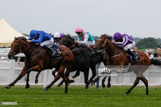 Oisin Murphy riding Benbatl win The Hampton Court Stakes on day 3 'Ladies Day' of Royal Ascot at Ascot Racecourse on June 22 2017 in Ascot England