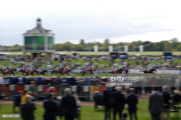 Oisin Murphy riding Here Comes When win The Betfred TV Hambleton Stakes at York racecourse on May 18 2017 in York England
