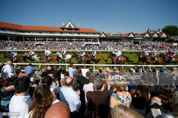 Oisin Murphy riding Montaly on their way to winning The 188Bet Chester Cup Handicap Stakes at Chester Racecourse on May 10 2017 in Chester England