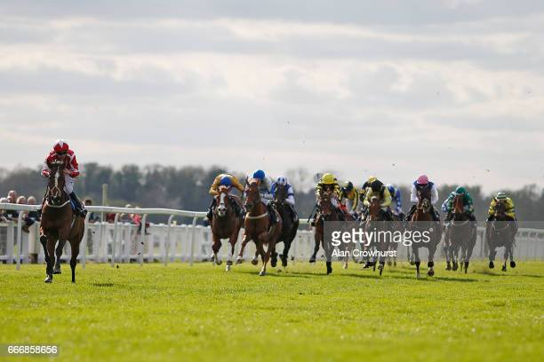 Oisin Murphy riding Sir Plato easily win The BGC Racing Ownership From £125 Handicap Stakes at Windsor Racecourse on April 10 2017 in Windsor England