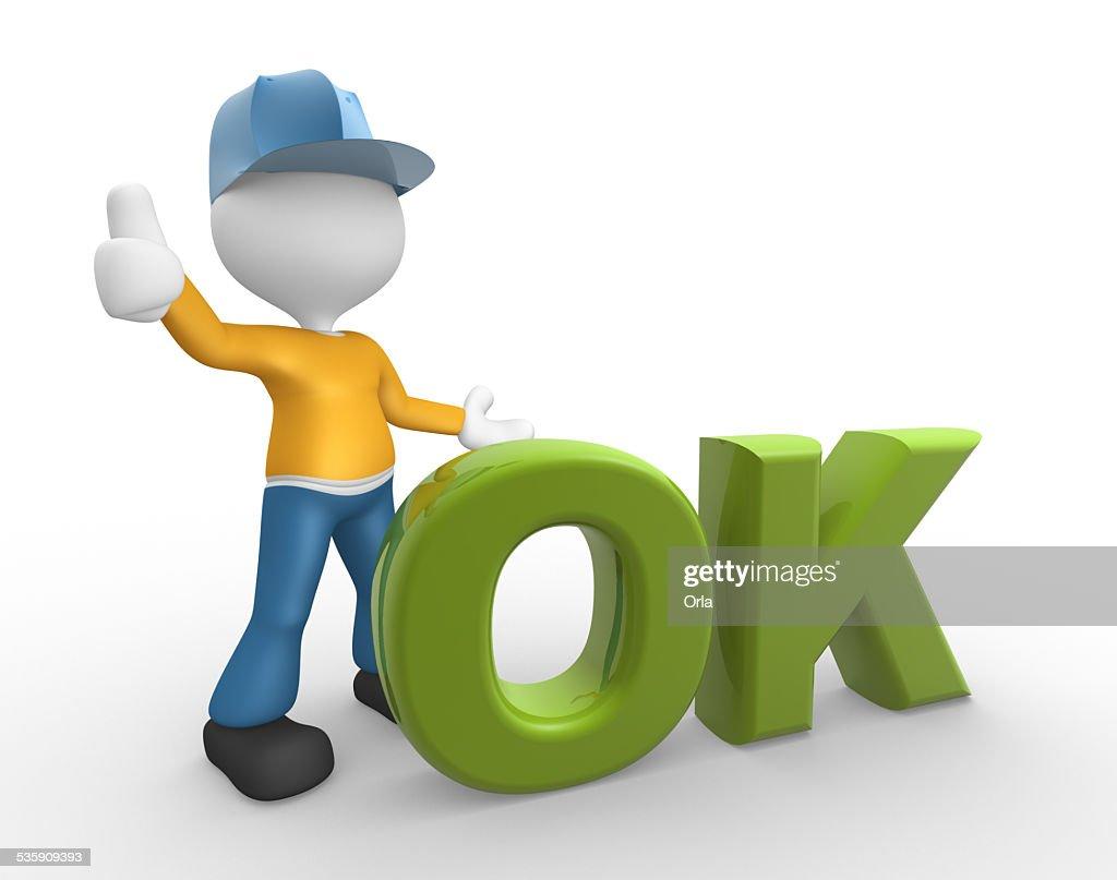 Ok icon : Stock Photo