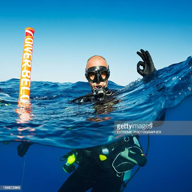 Ok scuba diving sign