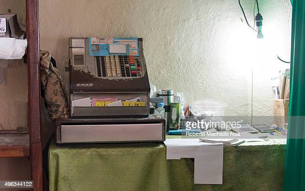 Oka cash register still in use in La Campana a government run hardware store in Santa ClaraCuba Cash register is used for registering and calculating...