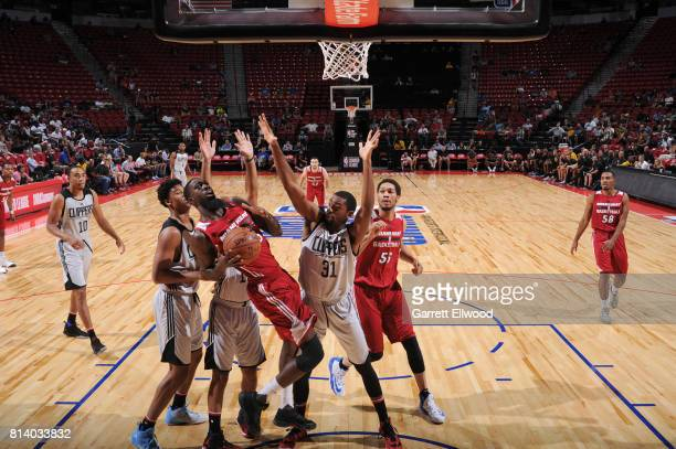 Okaro White of the Miami Heat shoots the ball against the LA Clippers on July 13 2017 at the Thomas Mack Center in Las Vegas Nevada NOTE TO USER User...