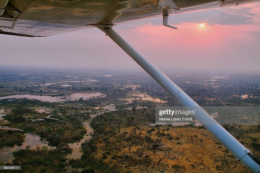 Okavango delta from the aie