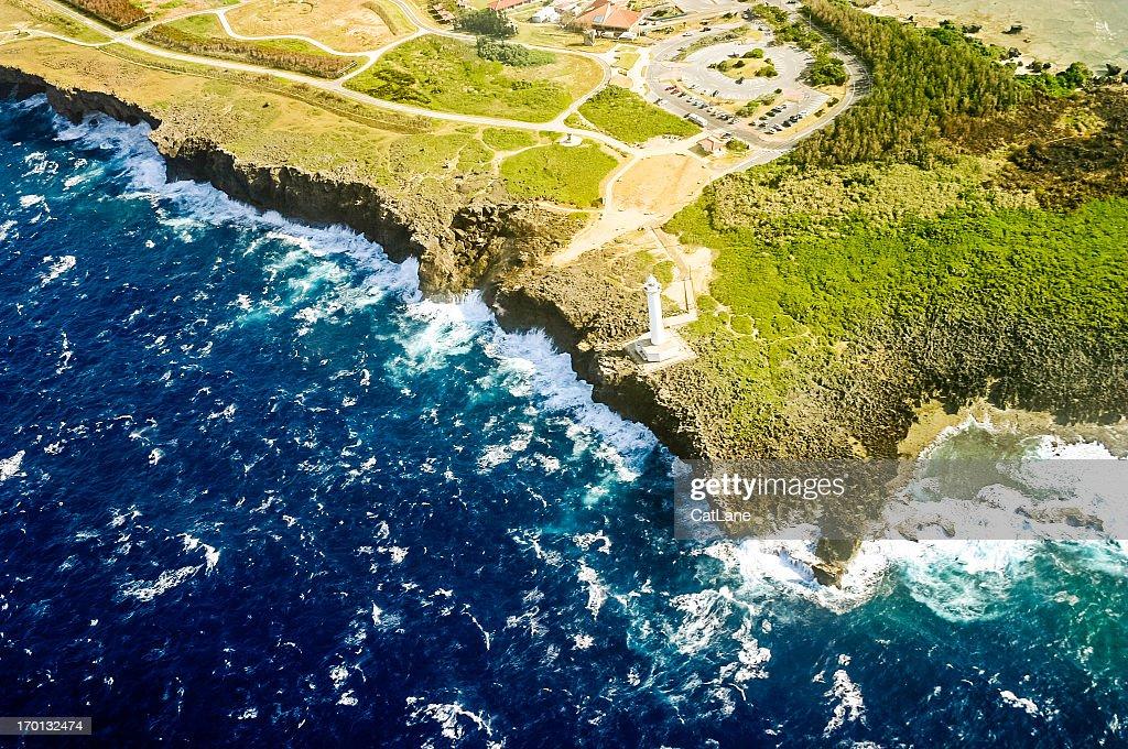 Okinawa, Japan Aerial View: Cape Zanpa