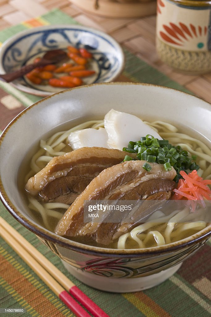 Okinawa Soba : Stock Photo