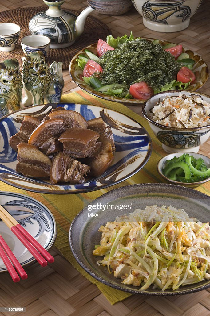 Okinawan Cuisine : Stock Photo