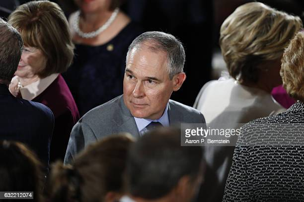 Oklahoma Attorney General Scott Pruitt President Donald Trump's nominee to head the Environmental Protection Agency arrives for the Inaugural...