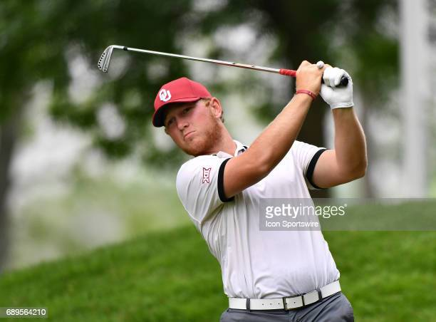 Oklahoma Sooners Brad Dalke plays the ball from the fourth tee during round 3 of the Division I Men's Golf Championships on May 28 2017 at Rich...