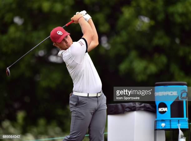 Oklahoma Sooners Brad Dalke plays the ball from the second tee during round 3 of the Division I Men's Golf Championships on May 28 2017 at Rich...