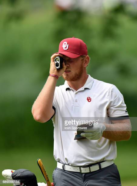 Oklahoma Sooners Brad Dalke sighting the ball during round 3 of the Division I Men's Golf Championships on May 28 2017 at Rich Harvest Farms in Sugar...