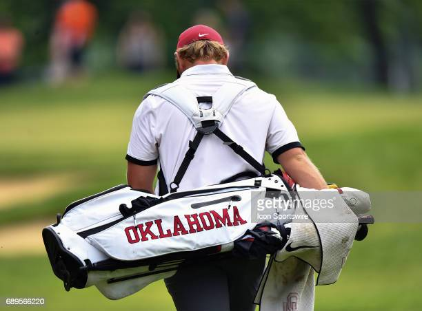 Oklahoma Sooners Brad Dalke walking to locate his ball during round 3 of the Division I Men's Golf Championships on May 28 2017 at Rich Harvest Farms...