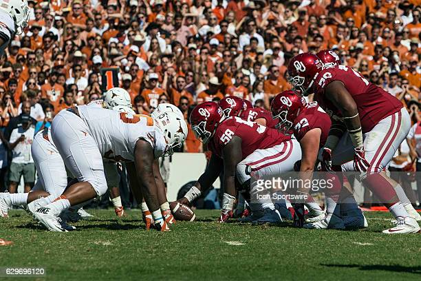 Oklahoma Sooners offensive lineman Erick Wren during the Oklahoma Sooners 4540 victory over the Texas Longhorns in their Red River Showdown on...