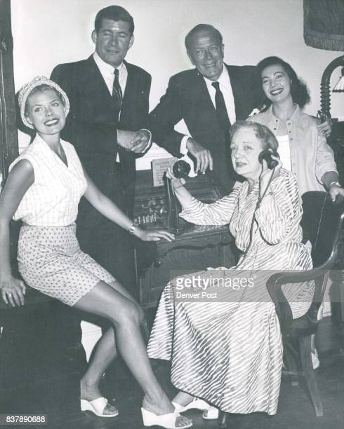 "1958 JUL 18 1958 ""Oklahoma"" Stars Visit Central Stars of Central City Festival production of 'La Perichole' meet the stars of The Denver Post opera..."