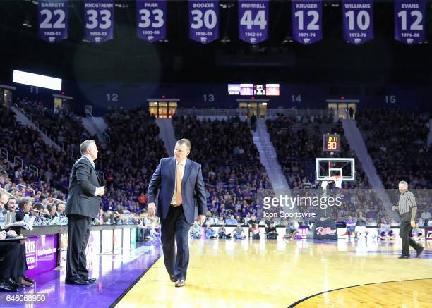 Oklahoma State Cowboys head coach Brad Underwood stalks the sideline in the first half of a Big 12 matchup between the Oklahoma State Cowboys and...