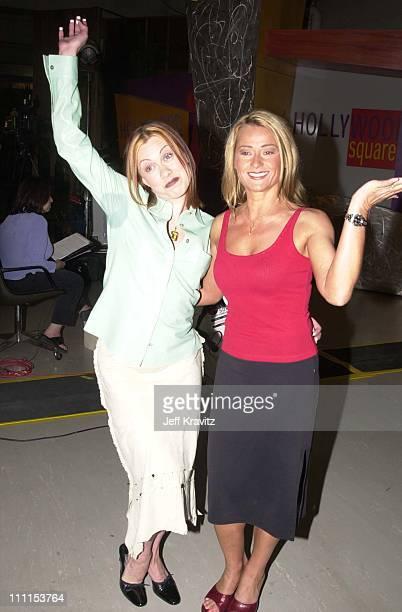Oksana Baiul Nadia Comaneci during 'Hollywood Squares' Taping 2000 in Los Angeles California United States
