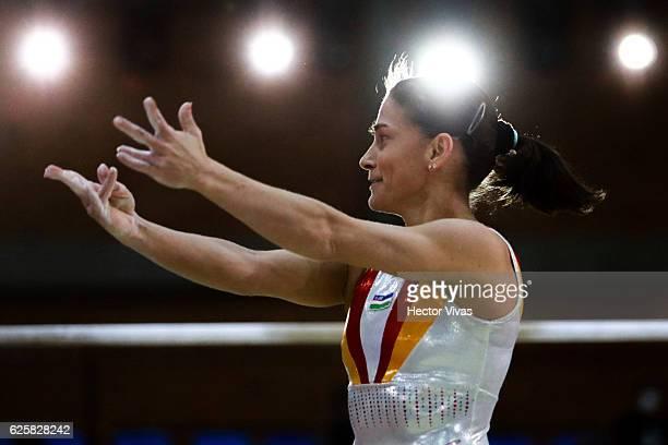 Oksana Chusovitina of Uzbekistan performs during the USANA Open Gymnastics 2016 at Sala de Armas November 25 2016 in Mexico City Mexico