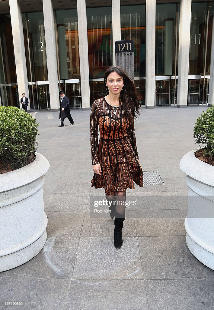 Oksana Grigorieva leaves the News Corp Bulding on April 22, 2013 in New York City.