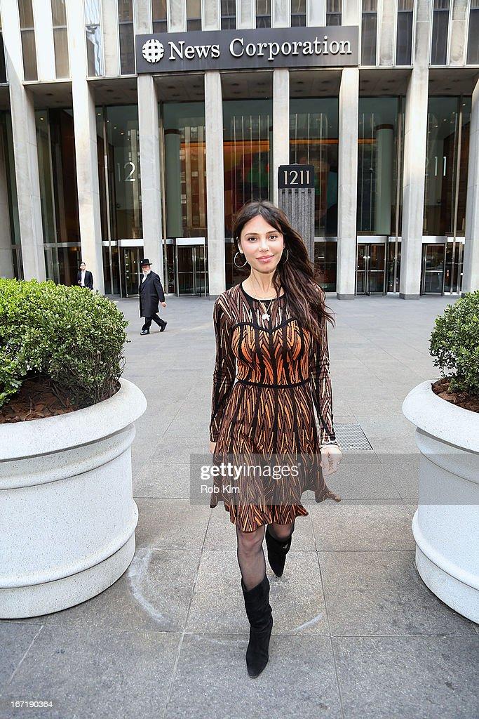 Oksana Grigorieva leaves the News Corp Bulding on April 22, 2013 in New York City.