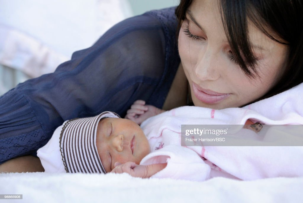 <a gi-track='captionPersonalityLinkClicked' href=/galleries/search?phrase=Oksana+Grigorieva&family=editorial&specificpeople=5834422 ng-click='$event.stopPropagation()'>Oksana Grigorieva</a> poses with her daughter Lucia during a photo shoot on November 2, 2009 in Los Angeles, California.