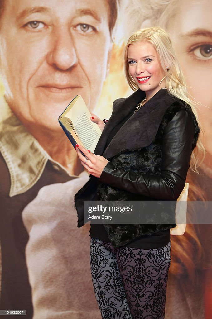 Oksana Kolenitchenko arrives for the German premiere of the film 'The Book Thief' (Die Buecherdiebin) at Zoo Palast on January 23, 2014 in Berlin, Germany.