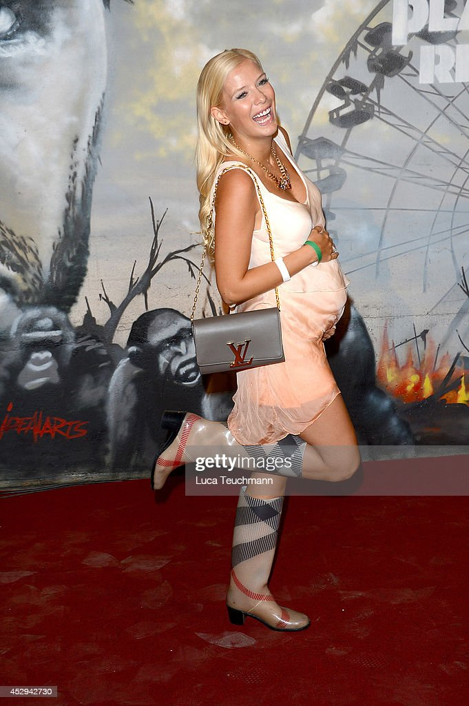 Oksana Kolenitschenko attend a special preview for the film 'Dawn of the Planet of the Apes' at Freizeitpark Spreepark on July 30 2014 in Berlin...