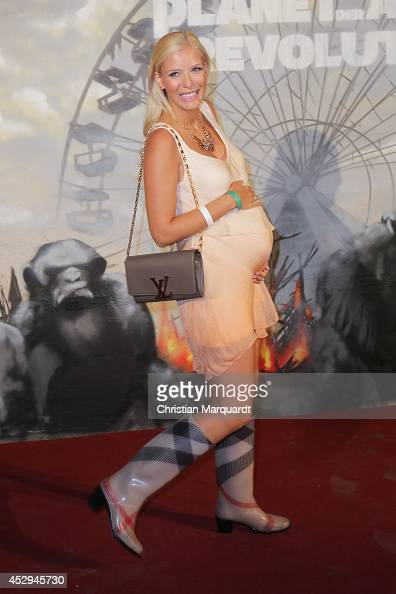 Oksana Kolenitschenko attends a special preview for the film 'Dawn of the Planet of the Apes' at Freizeitpark Spreepark on July 30 2014 in Berlin...