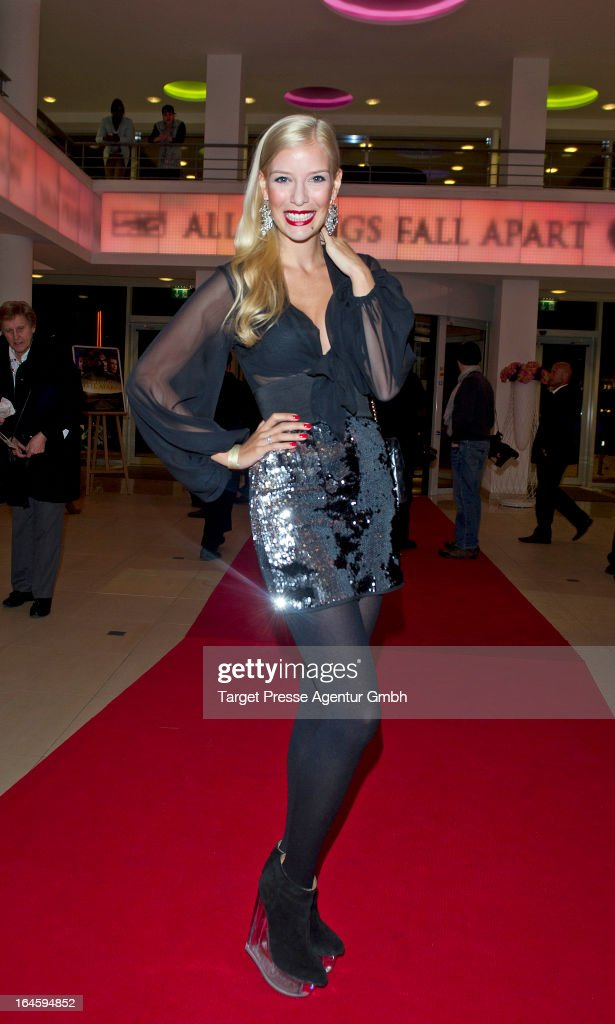 Oksana Kolenitschenko attends the aftershow party to the german premiere of his movie 'All Things Fall Apart' at Hotel Berlin on March 24, 2013 in Berlin, Germany.