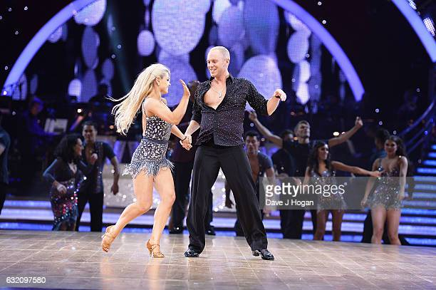 Oksana Platero and Judge Rinder attend the photocall for the 'Strictly Come Dancing' live tour at the Barclaycard Arena on January 19 2017 in...