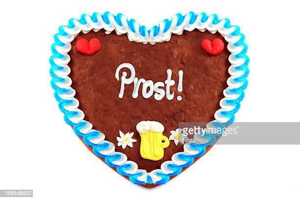 Oktoberfest Biscoito de Gengibre em forma de coração