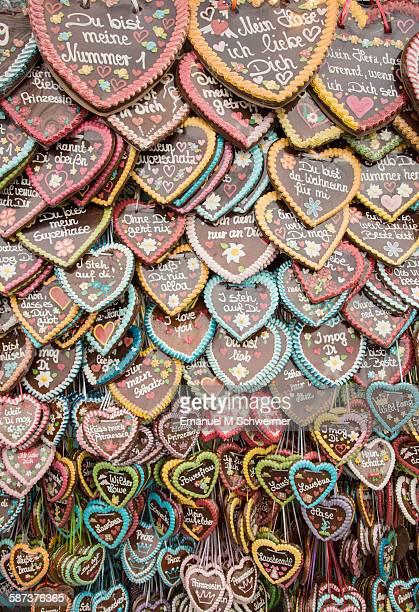 Oktoberfest gingerbread hearts